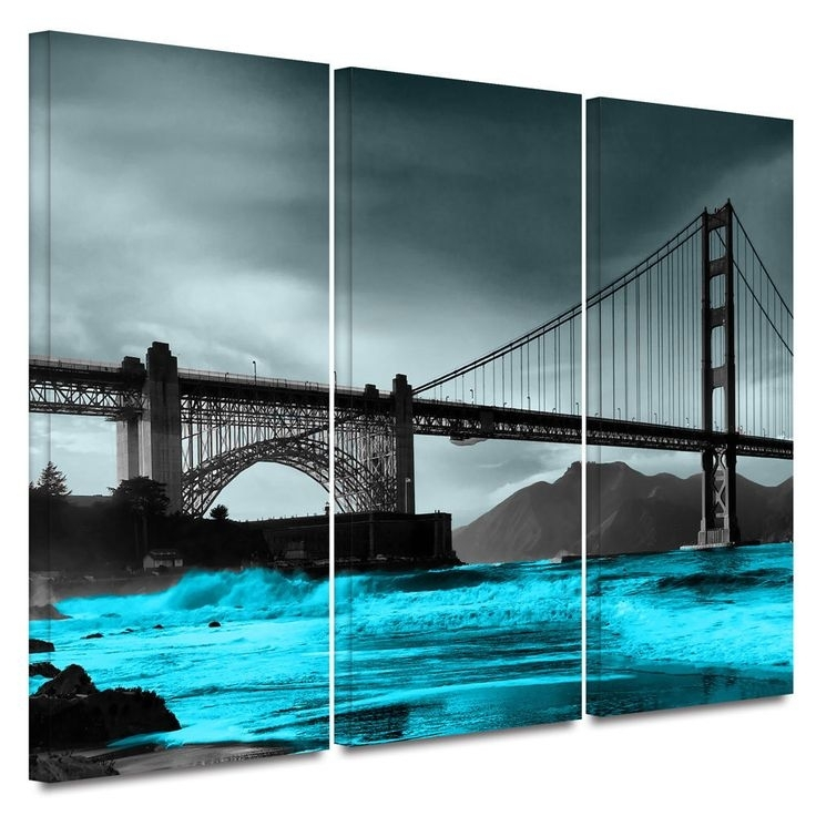 11 Best Home Wall Art Images On Pinterest | Painted Canvas Within Golden Gate Bridge Canvas Wall Art (Image 1 of 15)