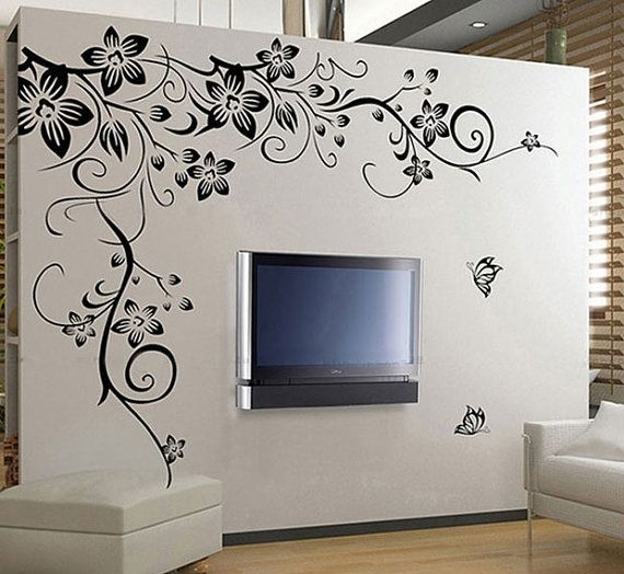 110 Best Butterfly Wall Decals Images On Pinterest | Butterflies Pertaining To Vinyl Stickers Wall Accents (Image 1 of 15)