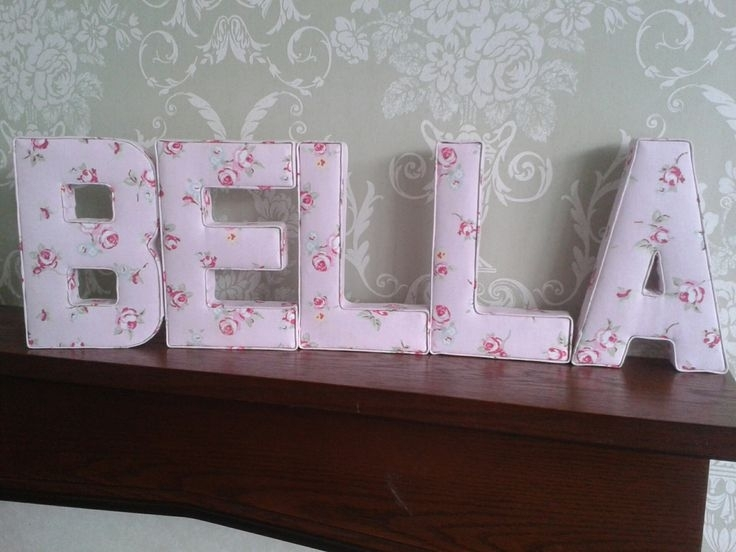 115 Best Alphabet Craft - Fabric Covered Letters Images On regarding Fabric Wall Art Letters