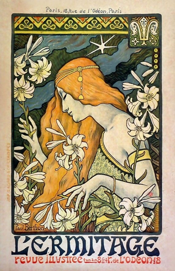 11X17 Vintage French Advertisements Poster. Art Nouveau (View 14 of 15)