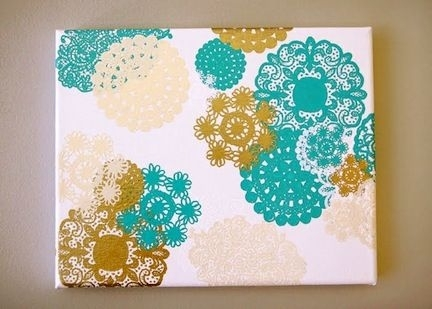 12 Ideas For Canvas Wall Art | Diy Canvas, Wall Spaces And Canvases Regarding Homemade Canvas Wall Art (Image 1 of 15)