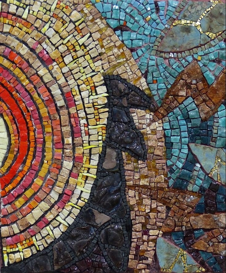 12002 Best Mosaics Images On Pinterest | Mosaic Projects, Mosaic Regarding Abstract Mosaic Wall Art (Image 3 of 15)