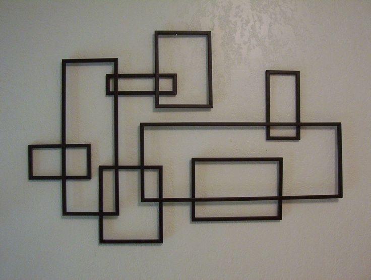 122 Best Modern Wall Design Images On Pinterest | Wall Decor Inside Geometric Modern Metal Abstract Wall Art (Image 1 of 15)