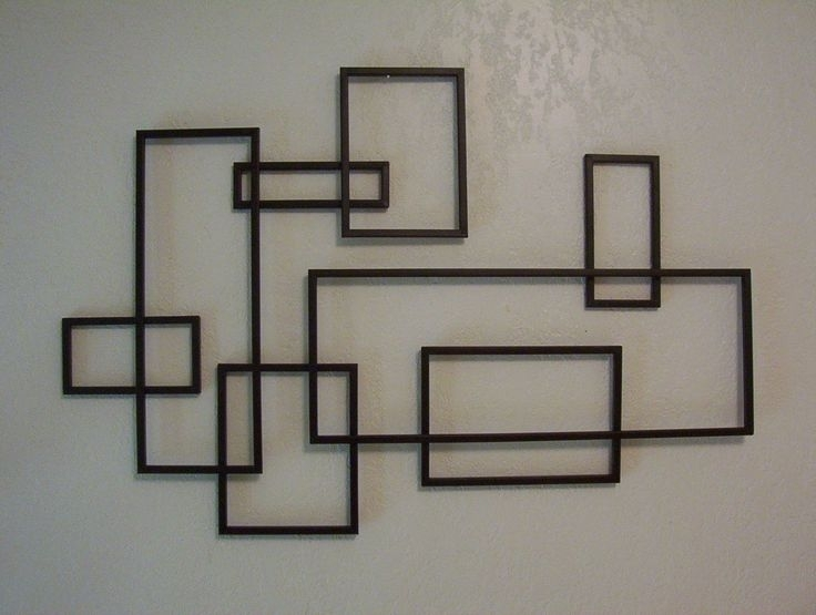 122 Best Modern Wall Design Images On Pinterest | Wall Decor With Regard To Abstract Geometric Metal Wall Art (View 3 of 15)