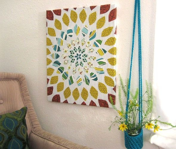 13 Best Scrap Fabric Projects Images On Pinterest | Craft, Fabric Pertaining To Diy Fabric Flower Wall Art (View 15 of 15)