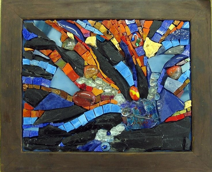 134 Best Abstract Mosaics Images On Pinterest | Stained Glass With Abstract Mosaic Wall Art (Image 4 of 15)