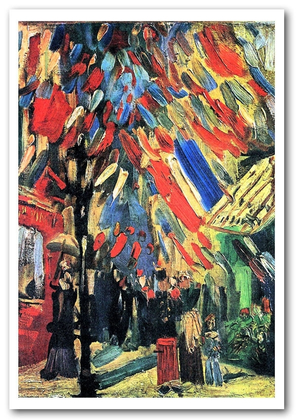 14 July In Parisvan Gogh Art Classic Framed Art Giclee Art Print In Framed Classic Art Prints (Image 1 of 15)
