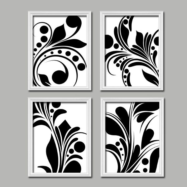 141 Best Craft Patterns Images On Pinterest | Stencil, Arabesque regarding Black And White Fabric Wall Art