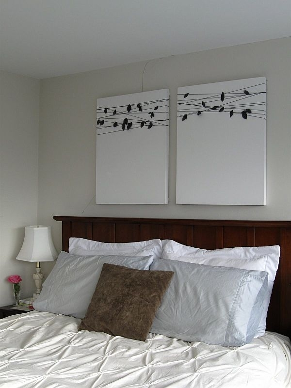 15 Easy Diy Wall Art Ideas You Ll Fall In Love With Incredible Intended For Fabric Wall Art Above Bed (Image 2 of 15)