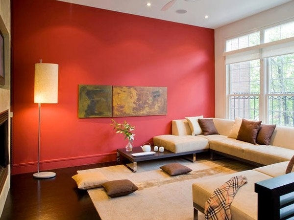 15 Mesmerizing Maroon Living Room Walls | Home Design Lover Intended For Maroon Wall Accents (View 5 of 15)