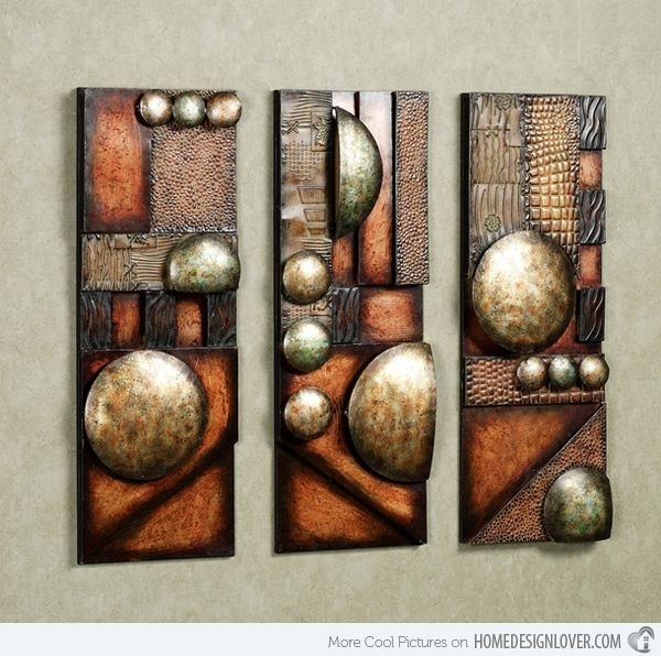 15 Modern And Contemporary Abstract Metal Wall Art Sculptures Pertaining To Geometric Modern Metal Abstract Wall Art (Image 2 of 15)