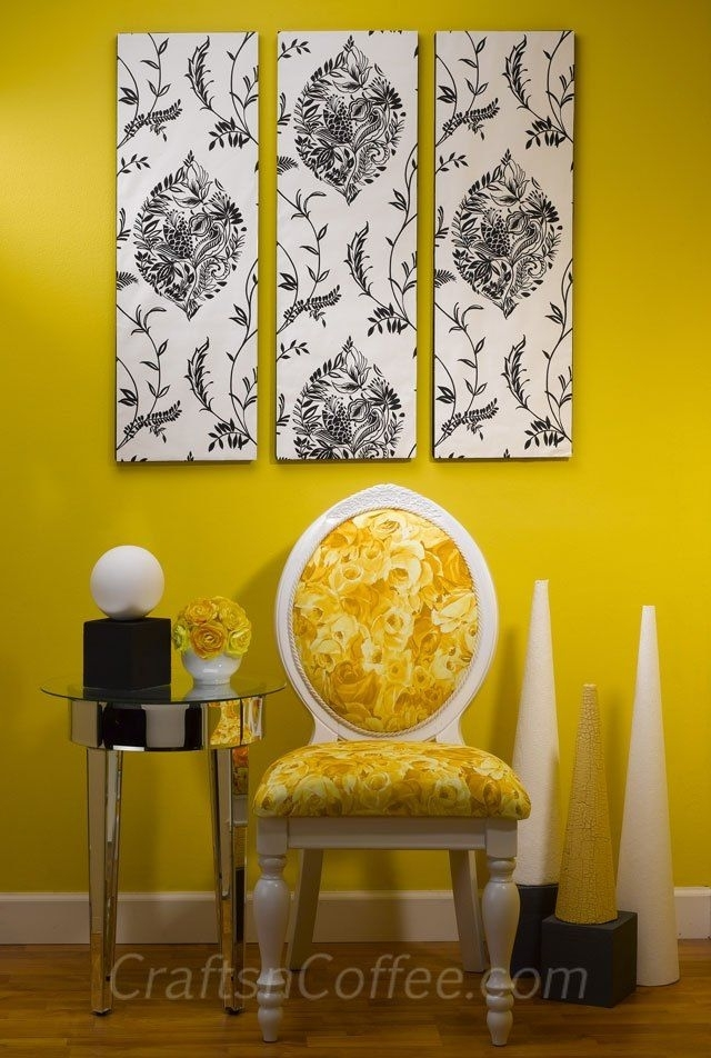 151 Best Wallpaper Crafts Images On Pinterest | Bricolage inside Diy Fabric Canvas Wall Art