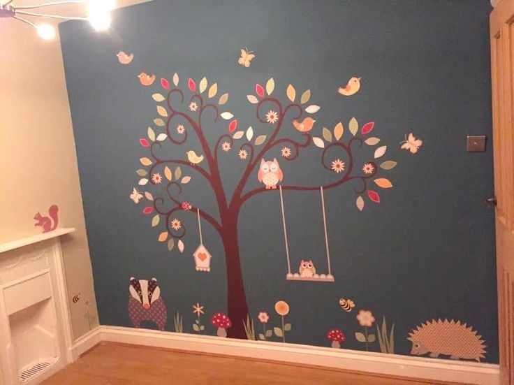 155 Best Finished Nursery Room Projects Images On Pinterest in Fabric Tree Wall Art
