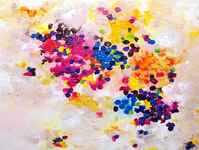 158 Best My Original Paintings On Canvas Images On Pinterest Pertaining To Abstract Neon Wall Art (View 6 of 15)