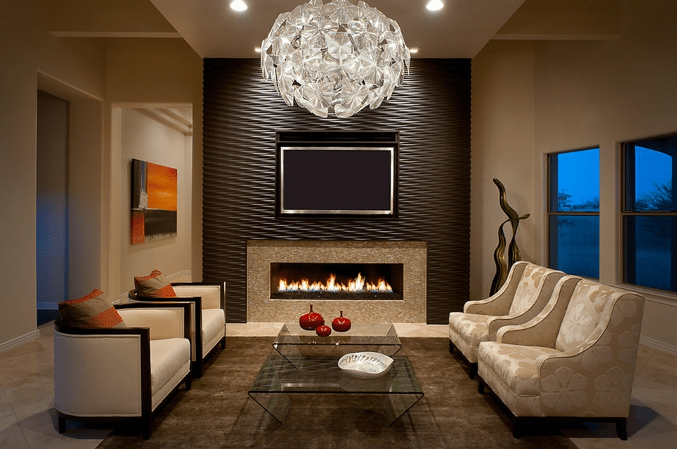16 Living Rooms With Accent Walls In Wall Accents For Living Room (Image 2 of 15)
