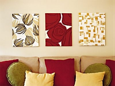 163 Best Wall Decor Ideas Images On Pinterest | Decor Ideas Within Red Fabric Wall Art (Image 1 of 15)