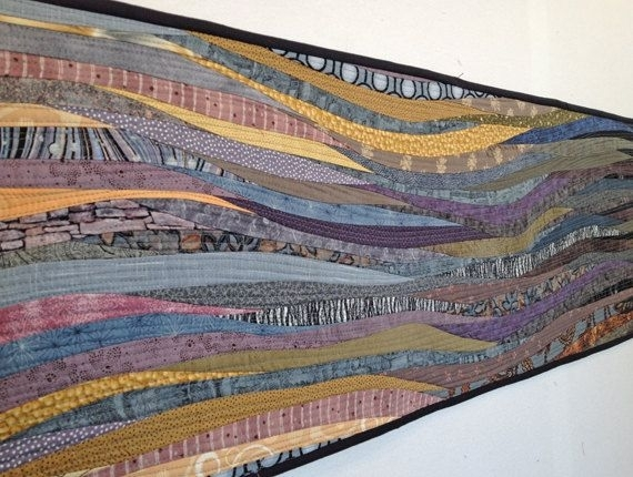 166 Best Quilts – Ideas Images On Pinterest | Quilting Ideas Within Abstract Textile Wall Art (Image 1 of 15)