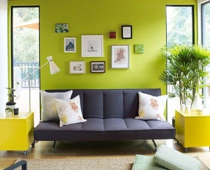 17 Best Accent Wall Images On Pinterest | Bedrooms, Living Room For Green Wall Accents (Image 1 of 15)