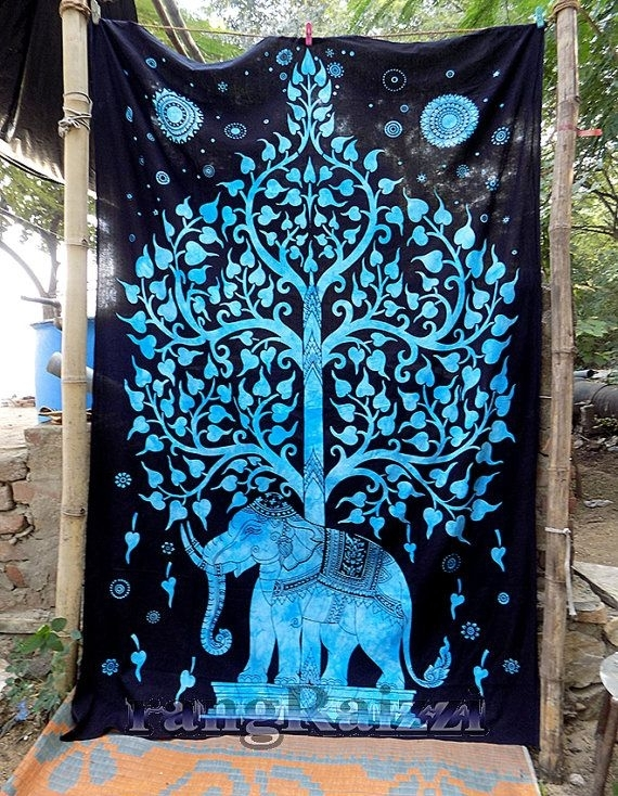 17 Best Elephant Bed Stuff Images On Pinterest | Tapestry Wall Intended For Elephant Fabric Wall Art (View 8 of 15)