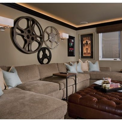 2019 latest wall accents for media room wall art ideas. Black Bedroom Furniture Sets. Home Design Ideas