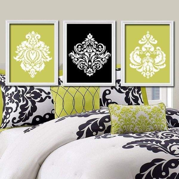 174 Best Painting In Canvas Images On Pinterest | Art On Canvas For Damask Fabric Wall Art (Image 1 of 15)