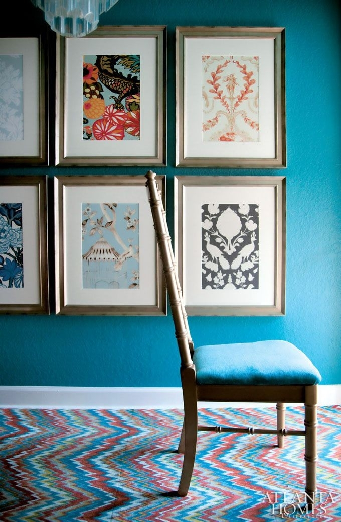 18 Best Framed Fabric Images On Pinterest | Home Ideas, Framed intended for Blue Fabric Wall Art