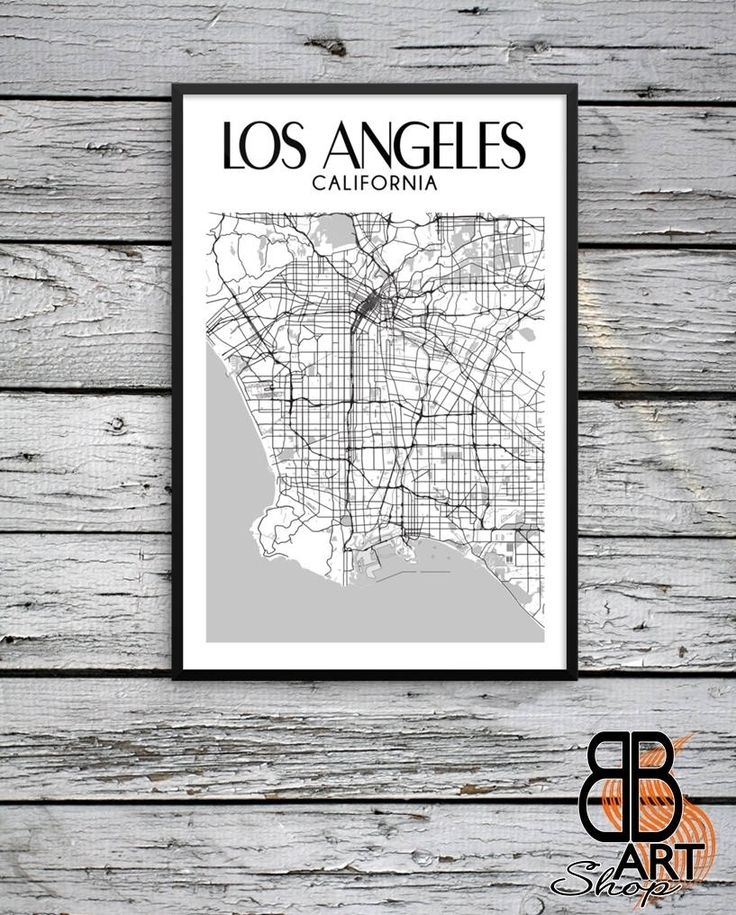 18 Best Los Angeles Prints Images On Pinterest | Los Angeles, Los With Regard To Los Angeles Framed Art Prints (Image 1 of 15)