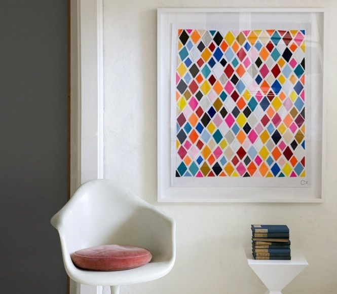 18 Best Paint Sample Art Images On Pinterest | Paint Chips, Colour with regard to Fabric Swatch Wall Art