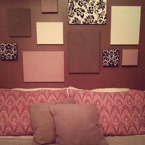 18 Best Wall Art Images On Pinterest | Diy Wall Art, Craft And With Purple Fabric Wall Art (Image 1 of 15)