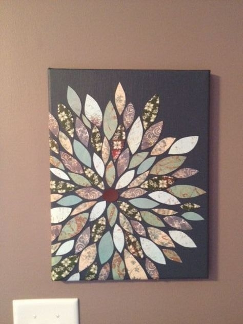 18 Simple Diy Canvas Wall Hangings To Brighten Any Room | Living Regarding Homemade Canvas Wall Art (Image 2 of 15)