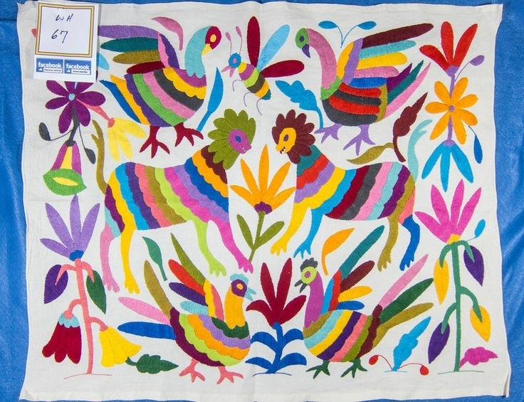 183 Best Otomi Images On Pinterest | Mexican Embroidery Intended For Mexican Fabric Wall Art (Image 3 of 15)