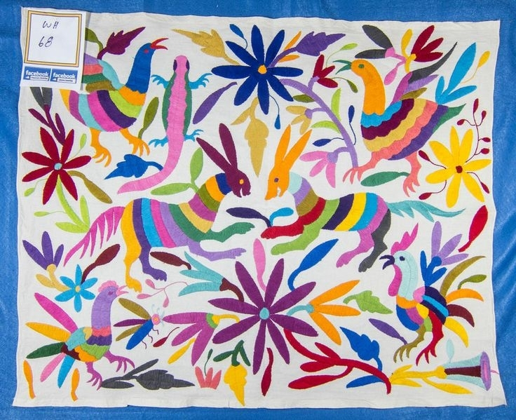 183 Best Otomi Images On Pinterest | Mexican Embroidery Within Mexican Fabric Wall Art (Image 4 of 15)