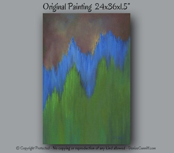 184 Best Artfromdenise – Paintingsdenise Cunniff Images On Inside Olive Green Abstract Wall Art (Image 1 of 15)