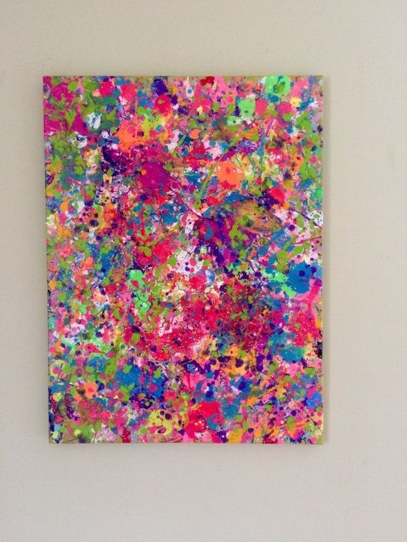 """18""""x24"""" Paint Splatter Canvas 