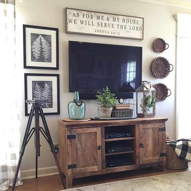 19 Amazing Diy Tv Stand Ideas You Can Build Right Now | Decorating With Regard To Antique Wall Accents (Image 1 of 15)