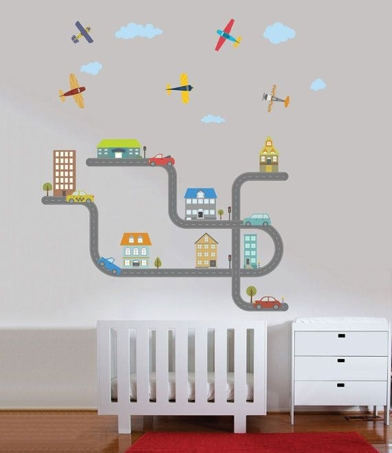 19 Best Decals For Table Images On Pinterest | Child Room, Wall Regarding Fabric Wall Art For Nursery (Image 1 of 15)