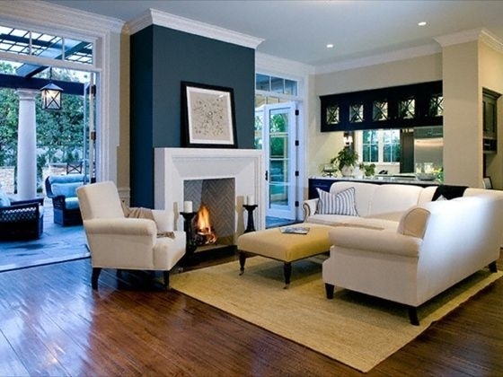 20+ Living Room With Fireplace That Will Warm You All Winter With Regard To Wall Accents For Fireplace (Image 1 of 15)