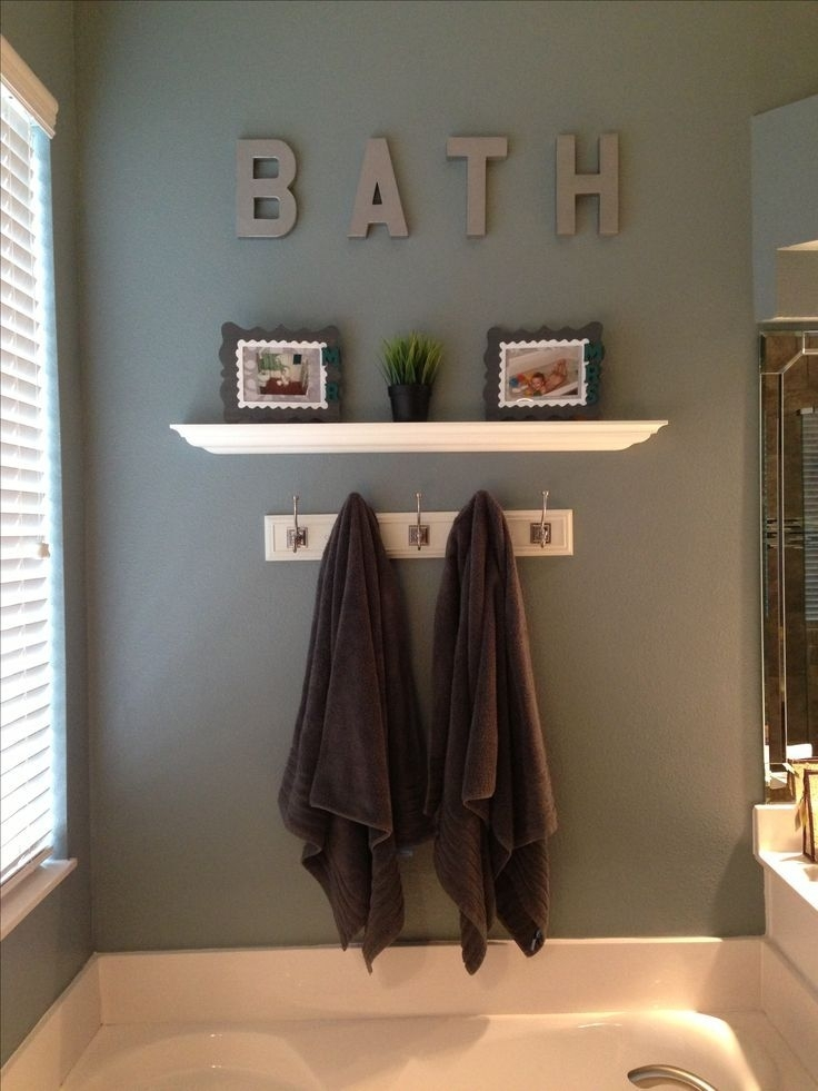 20 Wall Decorating Ideas For Your Bathroom | Simple Bathroom, Wall Throughout Wall Accents For Bathroom (Image 3 of 15)