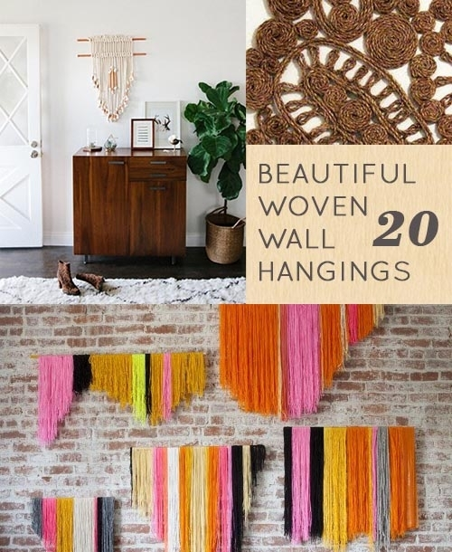 20 Woven Wall Hangings To Inspire, Buy Or Diy – Design*sponge Pertaining To Woven Fabric Wall Art (Image 1 of 15)