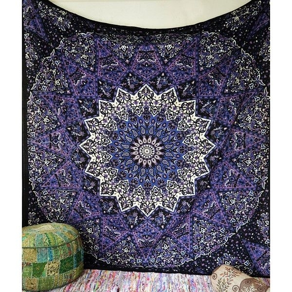 200 Best Things To Wear Images On Pinterest | Mandalas, Twin And Twins Throughout Blue Fabric Wall Art (Image 3 of 15)