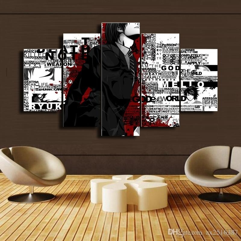 2018 Japanese Anime Canvas Print Painting Modern Canvas Wall Art With Regard To Japanese Canvas Wall Art (Image 1 of 15)