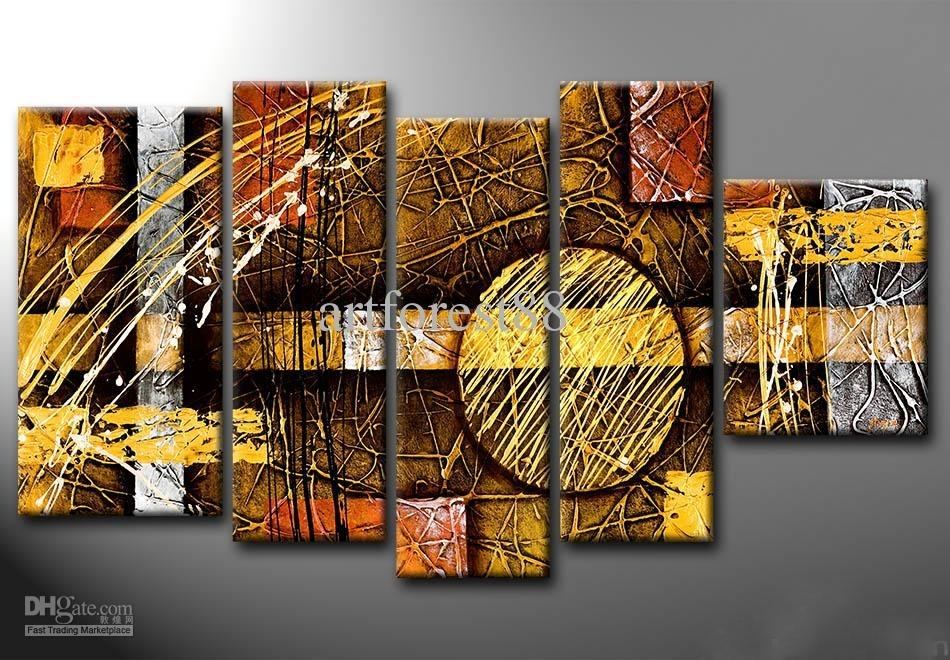 2018 Large Modern Abstract Wall Art For Sale Hand Painted Oil For Modern Abstract Wall Art (Image 1 of 15)