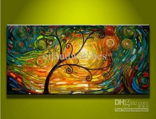 2018 Modern Abstract Canvas Art Oil Painting Tree Art #15695 From For Modern Abstract Wall Art Painting (View 10 of 15)