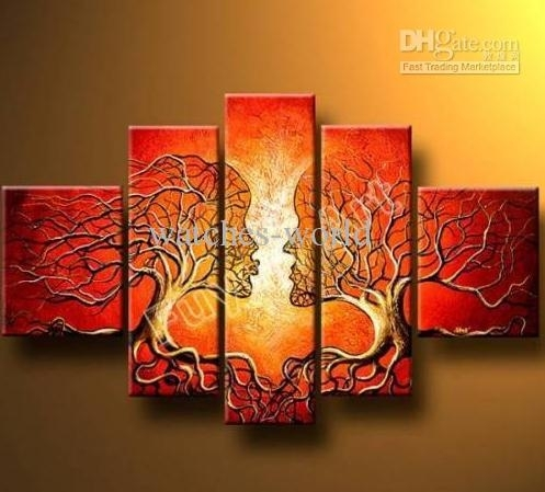 2018 Modern Abstract Huge Wall Art Oil Painting On Canvas Convert Throughout Modern Abstract Huge Oil Painting Wall Art (Image 3 of 15)