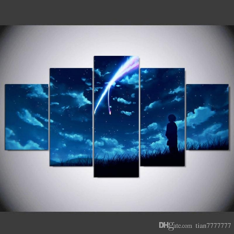 2018 New Anime Your Name Canvas Print Painting No Frame Wall Art Regarding Anime Canvas Wall Art (View 13 of 15)