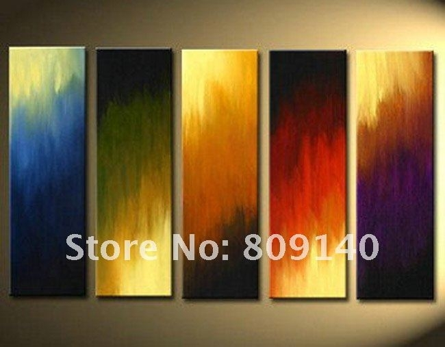 2018 Stretched Abstract Oil Painting Canvas Green Grey Black In Modern Abstract Oil Painting Wall Art (Image 3 of 15)