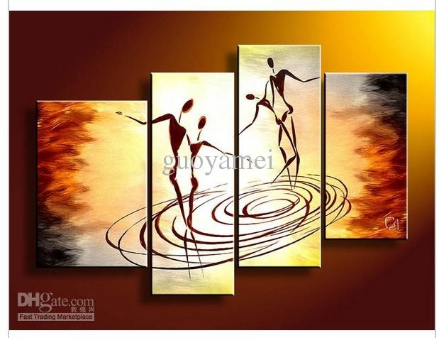2018 Wall Art People Dance Of Love Oil Painting On Canvas From Intended For Dance Canvas Wall Art (Image 2 of 15)