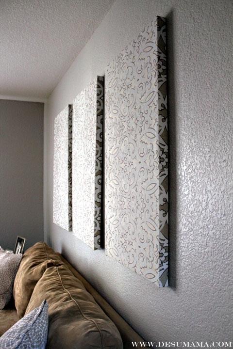 21 Fabric Panel Wall Art, Details That Make Life Loveable Within Diy Fabric Panel Wall Art (View 7 of 15)