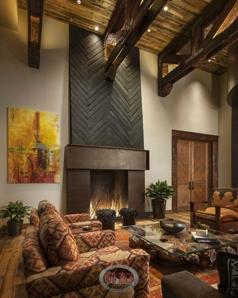 21 Gorgeous Living Rooms With Accent Walls Of All Styles (Pictures) Intended For Wall Accents For Fireplace (Image 2 of 15)