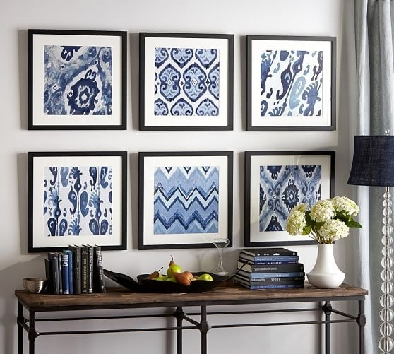 21 Home Decor Projects Made With Fabric | Framed Fabric, Wall Throughout Ikat Fabric Wall Art (View 1 of 15)